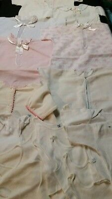 Vintage Lot Of Infant Flannel Gowns And Under Shirts