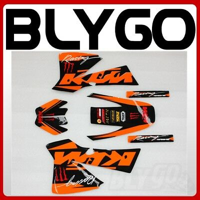 3M KTM Decals Graphics Sticker Kit KTM 50 Style Fairing PIT PRO Trail Dirt Bike