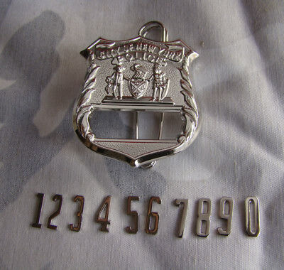 Custom Made Number NEW YORK NYPD Silver Hat Cap Metal Badge Cosplay Props Brooch