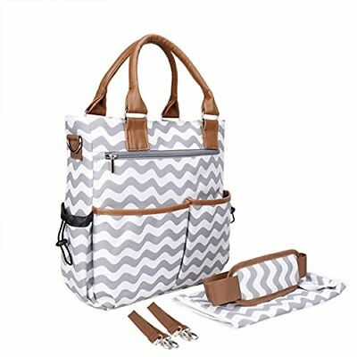 Diaper Bag Washable Designer Purse Diaper Tote Bag Baby Shower Gifts with Cha...