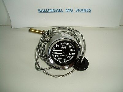 Bha4737 Mgb Oil/temp (F) Gauge By Smiths Part Number Bha4737 New