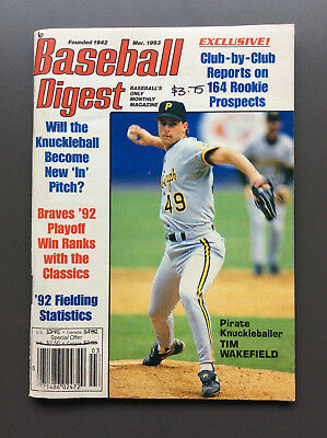 MLB BASEBALL DIGEST Magazine Tim Wakefield Cover March 1993 Gary Carter McGriff