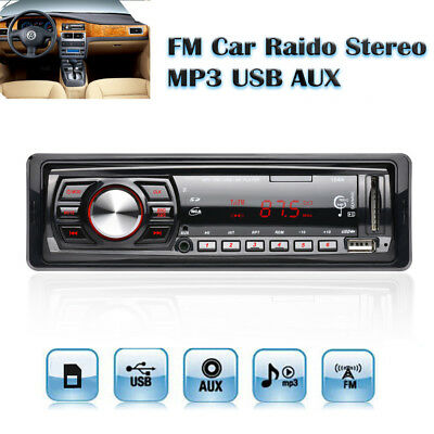 Car Vehicle Stereo Audio In-Dash FM Aux Input Receiver SD/USB/MP3 Radio Player
