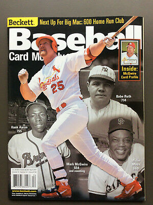 BECKETT BASEBALL CARD MONTHLY Magazine #193 April 2001 Mark McGuire Cover