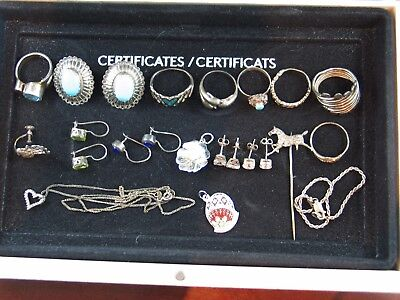 Wholesale Jewelry .925 Sterling Silver Lot Of 24