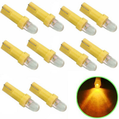 10pcs Car Panel Lights T5 1 SMD LED Bulbs Wedge Dashboard DASH Gauge  Lamp YX
