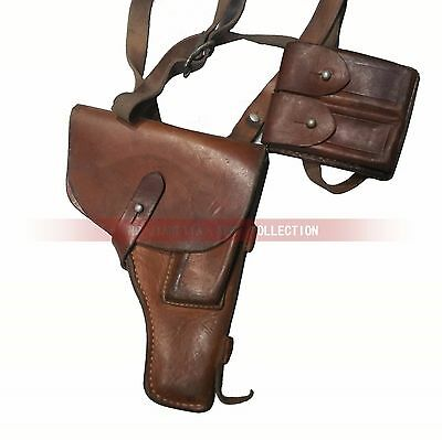Surplus Original PLA Chinese Type 54 Makarov Pistol Holster Leather Ammo Pouch