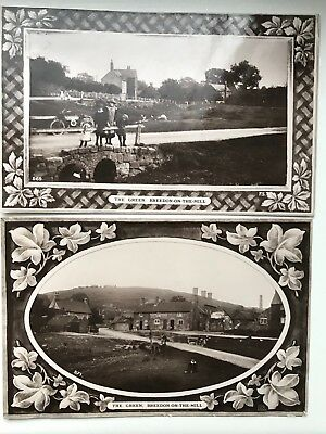 THE GREEN, BREEDON-ON-THE-HILL, Leicestershire Real Photograph Postcards 1914