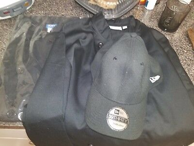2 chef jacket new size medium and bkack hat