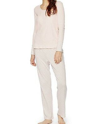Oh Baby/Motherhood Pajama Set - Front Snap Top - Stretchy - PINK -Large - NEW