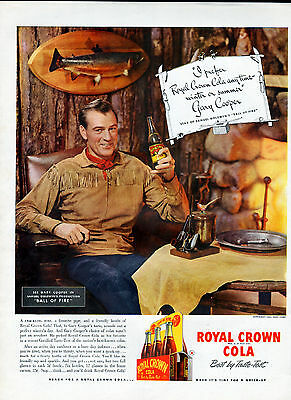 1941 Royal Crown Cola ad -Featuring --Gary Cooper --=670