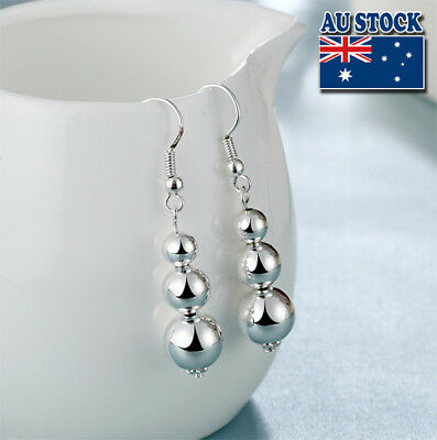 Wholesale Elegant 925 Sterling Silver Filled Ball Dangle Earrings