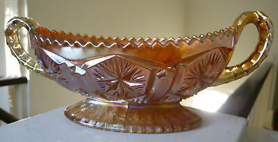 IMPERIAL pickle dish - carnival glass