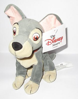 """New Official Disney Tramp From Lady & The Tramp 8"""" Beanie Soft Toy With Tags"""