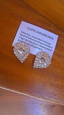 Duo Clips Cristaux Accesoires & Chaussures NEUF