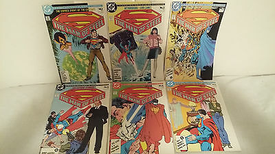 SUPERMAN THE MAN OF STEEL, complete #1-6 SET. BYRNE/GIORDANO.DC 1986 1st print
