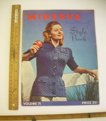 SWEATER Knitting Patterns Knit crochet Minerva style SPINNERIN sewing how to DIY