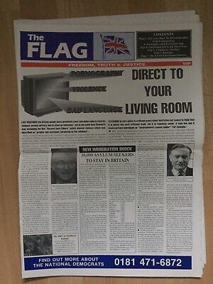 The Flag Newspaper 1989 No 103 National Front NF British National Party BNP