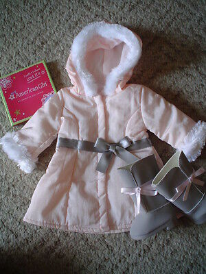 American Girl Winter Jacket & Boots plus Charm  2012 Retired