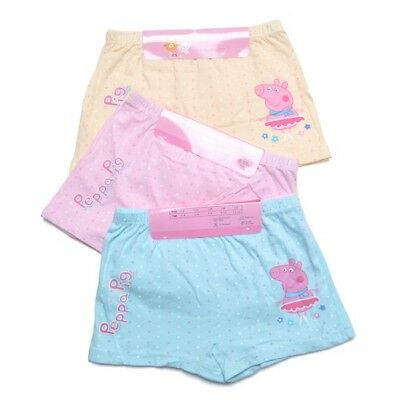 2 Pack Peppa Pig Girls Youth Cotton Hipster Boyleg Short Underwear size Yr 3-12