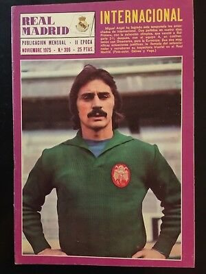 1975 European Cup. Derby County v. Real Madrid. 1st leg. programme.magazine