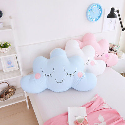 Cute Cloud Shaped Pillow Cushion Plush Toy Bedding Home Decoration Gift Natural