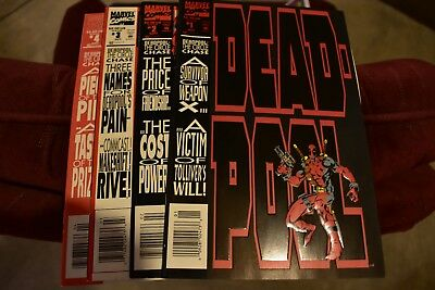 DEADPOOL THE CIRCLE CHASE #1-4 COMPLETE SET MARVEL 1993 Good condition!