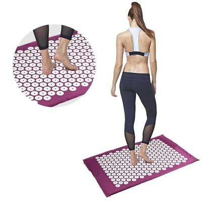 Massager Yoga Bed Mattress Pain Relieve Pad Acupressure Cushion Mat Of Nails NEW