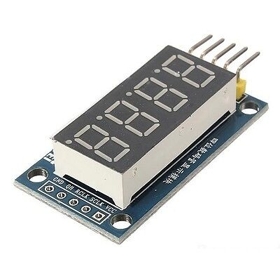 2x 4 Bits Digital Tube LED Display Module With Clock Display TM1637 for Arduino