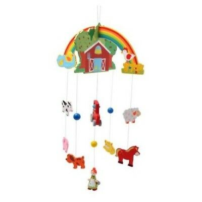 New Kaper Kidz Wooden Barn Yard Farm Animals Baby / Kids Mobile