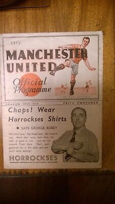 1934 MANCHESTER UNITED v NOTTS COUNTY PROGRAM WITH RARE INSERT.