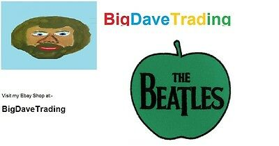 """Official Beatles """"Apple"""" woven patch/badge"""