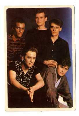 * Sanctify Yourself * SIMPLE MINDS- 1 x PORTUGAL pocket CALENDAR CARD 1986