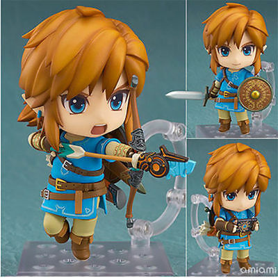 The Legend of Zelda Link Breath of The Wild Nendoroid 733# PVC Figure New No Box