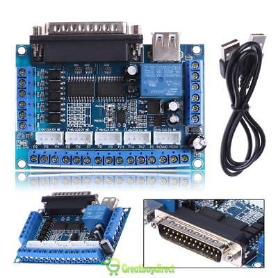 DC 12-24V Mach 3 CNC Motor Driver Interface Adapter Breakout Board + USB Cable