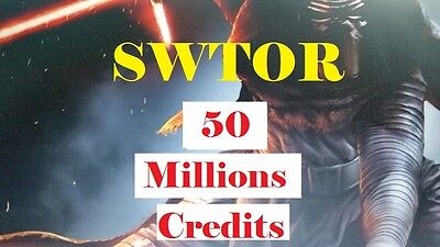 SWTOR CREDITS 50000000 50 Mio ALL SERVER Star Wars the Old Republic