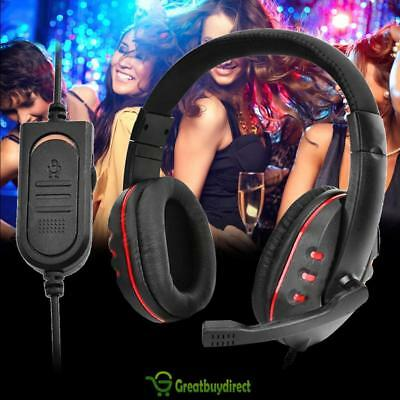 Universal Wird Gaming Headset Mic Headphones 3.5mm Plug Stereo Surround For PS4