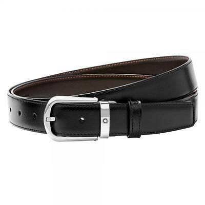 Montblanc Classic Line Belt Reversible Black Brown Leather #114412