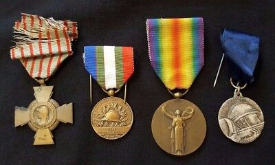 WW1 Original lot French Medals Inter-Allied Victory 1914-1918 Combatants