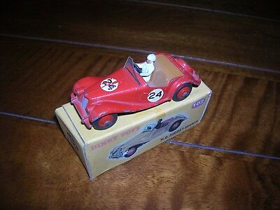 DINKY TOY No102 ,MG MIDGET SPORTS CAR 1950s ( original  50s Dinkytoy) not repro