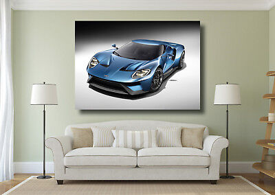 Ford GT Forza Supercar Large Poster Wall Art Print - A0 A1 A2 A3 A4