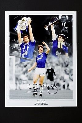 SALE KEVIN RATCLIFFE EVERTON FC HAND SIGNED PHOTO AUTHENTIC GENUINE + COA 16x12