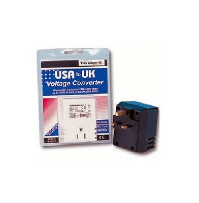 Tacima Voltage Transformer, USA to UK, 220/240V to 110/120V, 50VA Max Load