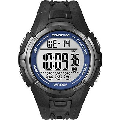 Timex Mens Digital Wrist Watch Ironman Marathon, Rubber Strap, Grey Dial