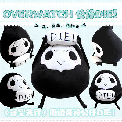 Game Overwatch OW Reaper Plush Toy Doll  Stuffed Toys Throw Pillow Kids Gift