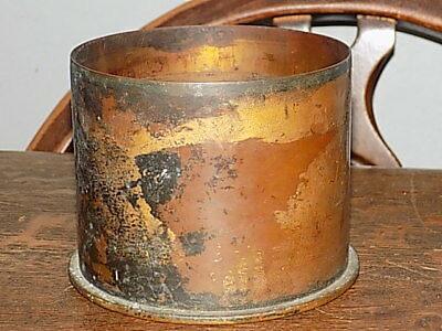 Antique WWI 1916 German Trench Art Shell Case Collectable Display Pot