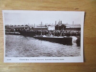 vintage postcard * Guinness's Brewery, Dublin - Loading Steamers Victoria Quay