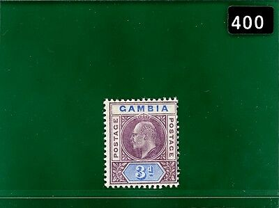 BLACK400 Gambia 1905 3d chalky DENTED FRAME fine mint MM SG.61a cat£325+ scarce