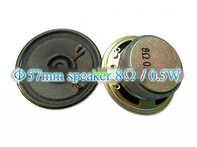 2pcs 57mm 8ohm 8Ω 0.5W speaker loudspeaker Iron shell external magnetic horn
