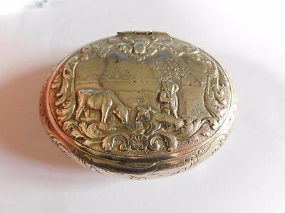 Antique Solid Silver Tobacco Box